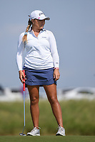 Lauren Stephenson (USA) watches her putt on 18 during the round 2 of the Volunteers of America Texas Classic, the Old American Golf Club, The Colony, Texas, USA. 10/4/2019.<br /> Picture: Golffile | Ken Murray<br /> <br /> <br /> All photo usage must carry mandatory copyright credit (© Golffile | Ken Murray)
