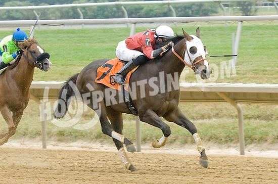 Rhodsey winning at Delaware Park on 7/14/12