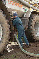 Loading Lite Trac with suspension fertilser - Norflk, February