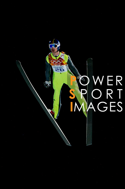 Andreas Wank of Germany during the Men's Normal Hill Individual of the 2014 Sochi Olympic Winter Games at Russki Gorki Ski Juming Center on February 9, 2014 in Sochi, Russia. Photo by Victor Fraile / Power Sport Images