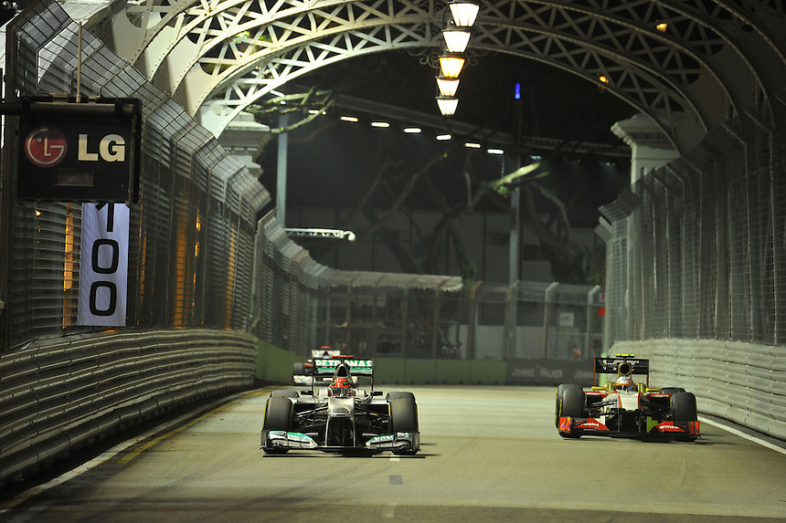 .Michael Schumacher (GER), Mercedes GP ..2012 FIA Formula One World Championship - Singtel Formula One Grand Prix, Marina Bay Street Circuit, Singapore, Singapore, Friday 21st September 2012...