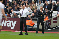 Burnley Manager Sean Dyche during West Ham United vs Burnley, Premier League Football at The London Stadium on 10th March 2018
