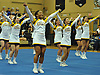 The West Babylon varsity cheerleading squad performs during an eight-team competition held at Bethpage High School on Sunday, Jan. 22, 2017.
