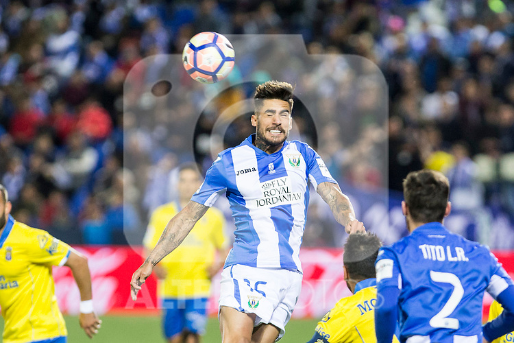 Diego Rico of Club Deportivo Leganes during the match of La Liga between Deportivo Leganes and Union Deportiva Las Palmas  Butarque Stadium  in Madrid, Spain. April 25, 2017. (ALTERPHOTOS/Rodrigo Jimenez)