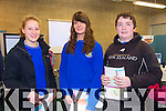 Students from Castleisland Community College pictured at the IT Tralee Open day on Friday were l-r  Lena Kieft, Mary Brosnan, James Beasley