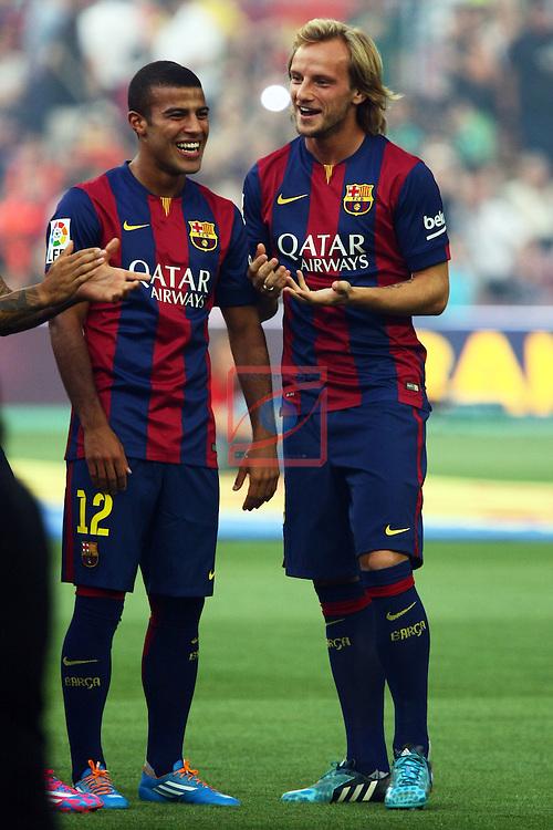 49e Trofeu Joan Gamper.<br /> FC Barcelona vs Club Leon FC: 6-0.<br /> Rafinha &amp; Rakitic.