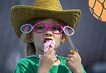 Michaela Hansen, 6, watches the 5th Annual Carson City Bulls, Broncs &amp; Barrels event at Fuji Park, in Carson City, Nev., on Saturday, July 29, 2017. <br />