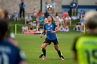 Kansas City, MO - Saturday June 17, 2017: Kristen McNabb, Sydney Leroux during a regular season National Women's Soccer League (NWSL) match between FC Kansas City and the Seattle Reign FC at Children's Mercy Victory Field.