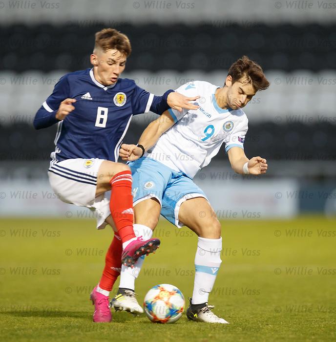 05.09.2019 Scotland u-21 v San Marino, European u-21 Championship 2021 Qualifying Round: Billy Gilmour and Daniele Babboni