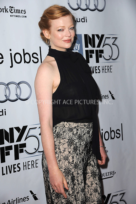 WWW.ACEPIXS.COM<br /> October 3, 2015 New York City<br /> <br /> Sarah Snook attending the 53rd New York Film Festival premiere of 'Steve Jobs' at Alice Tully Hall, Lincoln Center on October 3, 2015 in New York City.<br /> <br /> Credit: Kristin Callahan/ACE Pictures<br /> <br /> Tel: (646) 769 0430<br /> e-mail: info@acepixs.com<br /> web: http://www.acepixs.com
