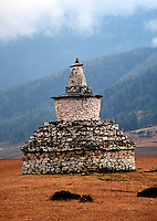 Chorten Phobjikha valley in Bhutan.