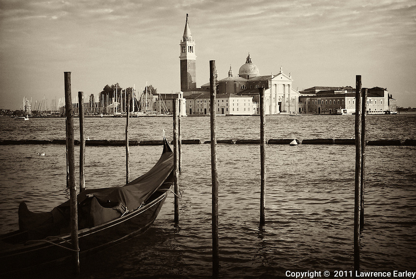 Okay, a visual chestnut, I agree.  But look at that Palladian facade of San Giorgio Maggiore in the distance.  Beautiful light on a wonderful architectural treasure.  You can catch a vaporetto to the island and catch a Gregorian Mass on Sunday morning.