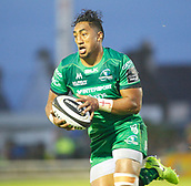 9th September 2017, Galway Sportsground, Galway, Ireland; Guinness Pro14 Rugby, Connacht versus Southern Kings; Bundee Aki on an attacking run for Connacht