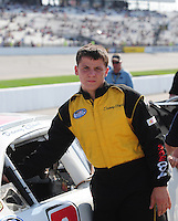 May 2, 2008; Richmond, VA, USA; NASCAR Nationwide Series driver Danny Elfand during the Lipton Tea 250 at the Richmond International Raceway. Mandatory Credit: Mark J. Rebilas-