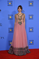 Felicity Jones at the 74th Golden Globe Awards  at The Beverly Hilton Hotel, Los Angeles USA 8th January  2017<br /> Picture: Paul Smith/Featureflash/SilverHub 0208 004 5359 sales@silverhubmedia.com