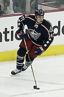 20 October 2006: Columbus Blue Jackets' Rostislav Klesla plays against the Toronto Maple Leafs at Nationwide Arena in Columbus, Ohio.<br />