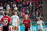 01.05.2019, RheinEnergie Stadion , Köln, GER, 1.FBL, Borussia Dortmund vs FC Schalke 04, DFB REGULATIONS PROHIBIT ANY USE OF PHOTOGRAPHS AS IMAGE SEQUENCES AND/OR QUASI-VIDEO<br /> <br /> im Bild | picture shows:<br /> Sara Bjoerk Gunnarsdottir (VfL Wolfsburg #7) klärt per Kopf, <br /> <br /> Foto © nordphoto / Rauch