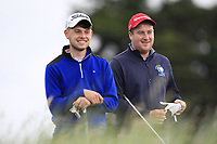 Karl McCormack (Portarlington) and Gary Ward (Kinsale) on the 2nd tee during Round 2 of The East of Ireland Amateur Open Championship in Co. Louth Golf Club, Baltray on Sunday 2nd June 2019.<br /> <br /> Picture:  Thos Caffrey / www.golffile.ie<br /> <br /> All photos usage must carry mandatory copyright credit (© Golffile | Thos Caffrey)