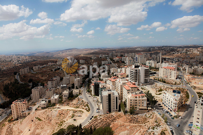 A general view show the West Bank city of Ramallah, on September 6, 2014. Photo by Shadi Hatem