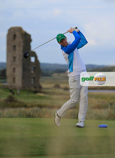 Mark Ryan (Grange) on the 13th tee during the South of Ireland Amateur Open Championship 4th Round at Lahinch Golf Club  29th July 2013 <br />