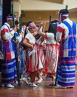 NWA Democrat-Gazette/BEN GOFF @NWABENGOFF<br /> A group of Karen dancers from Clarksville performs a bamboo dance Saturday, Jan. 12, 2019, during a Karen new year celebration at the Jones Center in Springdale. The Karen people are an ethnic group native to Southeast Asia.