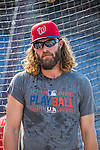 28 May 2016: Washington Nationals outfielder Jayson Werth awaits his turn in the batting cage prior to facing the St. Louis Cardinals at Nationals Park in Washington, DC. The Cardinals defeated the Nationals 9-4 to take a 2-games to 1 lead in their 4-game series. Mandatory Credit: Ed Wolfstein Photo *** RAW (NEF) Image File Available ***