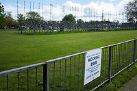 Henley on Thames. United Kingdom.   2018 Henley Royal Regatta, Henley Reach. <br />   <br /> Course Construction:  Partly constructd Grand Stand in the Background<br /> <br /> Wednesday  25/04/2018<br /> <br /> [Mandatory Credit: Peter SPURRIER:Intersport Images]<br /> <br /> Leica Camera AG  LEICA M (Typ 262)  f6.8  1/750sec  mm  25.6MB