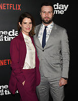 "07 February 2019 - Los Angeles, California - COBIE SMULDERS and TARAN KILLAM. Netflix's ""One Day at a Time"" Season 3 Premiere and Global Launch held at Regal Cinemas L.A. LIVE 14. Photo Credit: Billy Bennight/AdMedia"