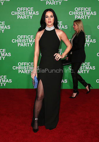 "Westwood, CA - DECEMBER 07: Katy Perry, At Premiere Of Paramount Pictures' ""Office Christmas Party"" At Regency Village Theatre, California on December 07, 2016. Credit: Faye Sadou/MediaPunch"