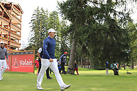 Matthew Fitzpatrick (ENG) walks off the 17th tee during Sunday's Final Round of the 2017 Omega European Masters held at Golf Club Crans-Sur-Sierre, Crans Montana, Switzerland. 10th September 2017.<br /> Picture: Eoin Clarke | Golffile<br /> <br /> <br /> All photos usage must carry mandatory copyright credit (&copy; Golffile | Eoin Clarke)