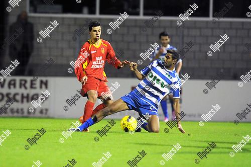 2014-09-10 / Voetbal / seizoen 2014-2015 / Kapellen - KVK Tienen / Youssef Boulaouali (l. Kapellen)<br /><br />Foto: Mpics.be