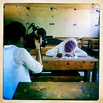 10x10 Field Producer Gina Nemirofsky filming a girl in Egypt.