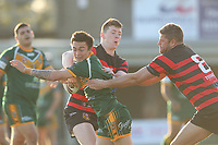 The Wyong Roos play Ourimbah Magpies in Round 15 of the Open Age Central Coast Rugby League Division at Morry Breen Oval on 27th of July, 2019 in Kanwal, NSW Australia. (Photo by Paul Barkley/LookPro)