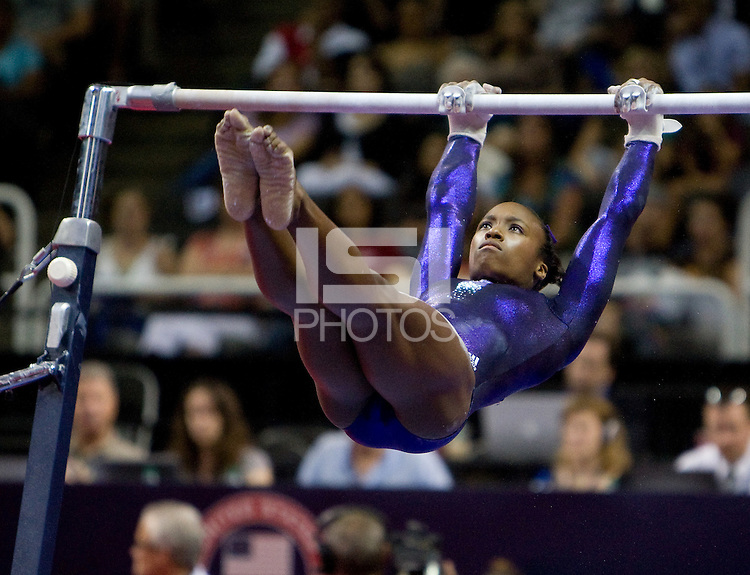 Elizabeth Price of Parkettes competes on uneven bars during 2012 US Olympic Trials Gymnastics Finals at HP Pavilion in San Jose, California on July 1st, 2012.