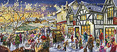 Marcello, CHRISTMAS LANDSCAPES, WEIHNACHTEN WINTERLANDSCHAFTEN, NAVIDAD PAISAJES DE INVIERNO, paintings+++++,ITMCXM1422/EXTENDE,#XL#,puzzle ,marketplace