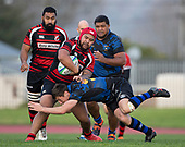 Counties Manukau Premier 1 'Game of the Week' rugby match between Papakura and Onewhero, played at Massey Park Papakura on Saturday June 8th 2019.<br /> Onewhero won the game 24 - 7 after leading 17 - 0 at halftime.<br /> Photo by Richard Spranger.