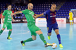League LNFS 2017/2018 - Game 10.<br /> FC Barcelona Lassa vs CA Osasuna Magna: 3-3.<br /> Eseverri vs Ferrao.