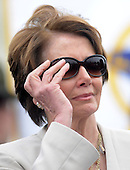 United States House Democratic Leader Nancy Pelosi (Democrat of California) attends the 32nd Annual National Peace Officers' Memorial Service at the West Front Lawn of the U.S. Capitol May 15, 2013 in Washington, DC. Obama attended the annual event to honor law enforcement who were killed in the line of duty in the previous year..Credit: Olivier Douliery / Pool via CNP