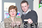 GIVE 'EM UP: Kicking the Habit of Smoking at the seminar in the KDYS Denny Street, Tralee on Monday night were Lucy Fitzell and Mark Blennerhassett (Tralee).   Copyright Kerry's Eye 2008