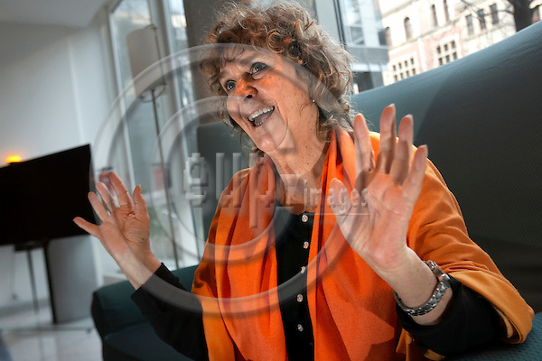 """BERLIN - GERMANY 20. NOVEMBER 2006 --  Siw Malmkvist, 69, cabaret singer from Sweden in the lobby of Hotel Maritims in Friedrichsstrasse - in Berlin to play GITTE WENCKE SIW in the Admiralspalast Berlin -- PHOTO: CHRISTIAN T. JOERGENSEN / EUP & IMAGES..This image is delivered according to terms set out in """"Terms - Prices & Terms"""". (Please see www.eup-images.com for more details)"""