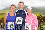 Bridget Moore, Dan McCarthy and Clare McMahon at the Run the Kingdom Camp 10 mile summer trail in aid of the The Irish Heart Foundation on Saturday