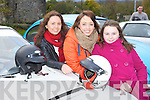 Emer Kearney Castleisland, Tara Looney and Shannon Gleeson Killarney at the Vintage car run in aid of the Make a Wish charity in Killarney on Sunda..