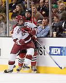 Dylan Reese (Harvard - 2), ? - The Northeastern University Huskies defeated the Harvard University Crimson 3-1 in the Beanpot consolation game on Monday, February 12, 2007, at TD Banknorth Garden in Boston, Massachusetts.