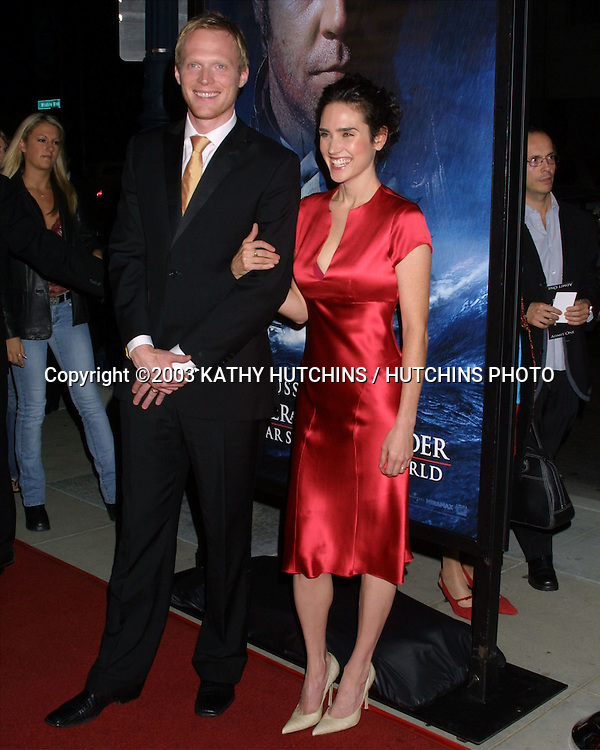 "©2003 KATHY HUTCHINS / HUTCHINS PHOTO.""MASTER & COMMANDER: \The Far Side of the World"" PREMIERE.BEVERLY HILLS, CA.NOVEMBER 10, 2003..PAUL BETTANY.JENNIFER CONNELLY"
