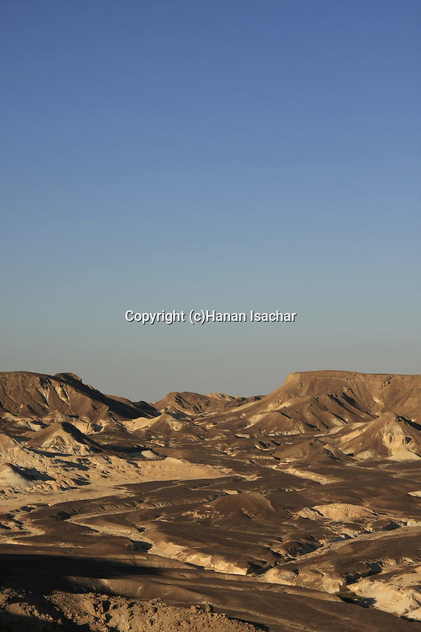 Israel, Negev, a view from Kasra Fortress on the ancient Incense Route, a World Heritage Site