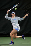 21 February 2017: UNC's Cassandra Vazquez. The University of North Carolina Tar Heels hosted the Appalachian State University Mountaineers at the Cone-Kenfield Tennis Center in Chapel Hill, North Carolina in a Women's College Tennis match. North Carolina won the match 6-1.