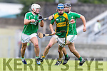 Sean Dowling Kilmoyley in action against Daniel O'Carroll Ballyduff in the County Senior Hurling Final at Austin Stack Park on Sunday.