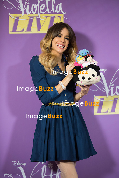 Violetta ( Martina Stoessel ), lors du photocall de sa tourn&eacute;e &quot; Violetta Live 2015 &quot;, &agrave; l'h&ocirc;tel Amigo &agrave; Bruxelles.<br /> Martina Stoessel est de passage en Belgique pour 5 concerts au Palais 12, &agrave; Bruxelles.<br /> Belgique, Bruxelles, 12 mars 2015. <br /> Violetta aka Martina Stoessel, during a photocall at the Amigo hotel in Brussels, prior to her upcoming concerts ' Violetta Live 2015 ' at the Palais 12.<br /> Belgium, Brussels, 12 March 2015.
