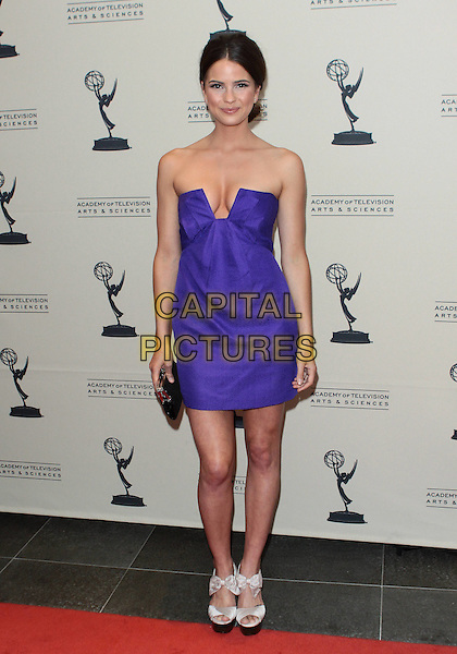 SHELLEY HENNIG .TV Academy's 37th Daytime Emmy Awards Cocktail Reception held at SLS Hotel, Beverly Hills, California, USA, 24th June 2010..full length strapless purple dress platform silver open toe sandals .CAP/ADM/TC.©T. Conrad/AdMedia/Capital Pictures.