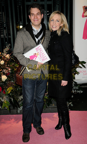 GUEST & CLARE BUCKFIELD .At the Gala Performance of 'Legally Blonde' the musical at The Savoy Theatre, London, England. .January 13th, 2010..arrivals full length claire black coat glasses boots .CAP/CAN.©Can Nguyen/Capital Pictures